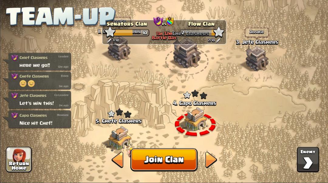 Clash of Clans Mod APK team up